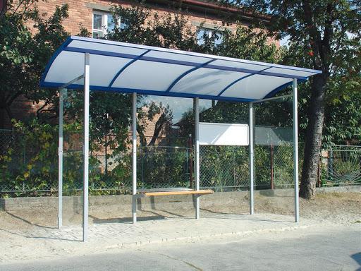 ایستگاه اتوبوس فلزی