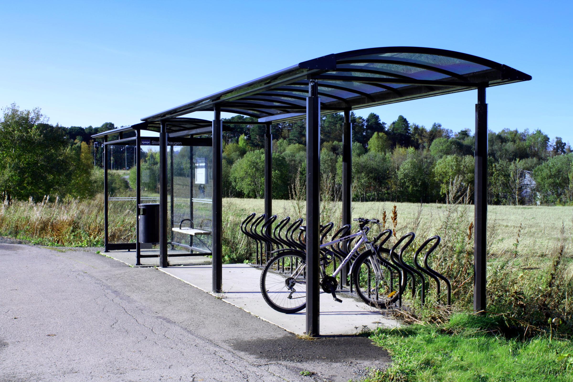 ایستگاه دوچرخه فلزی