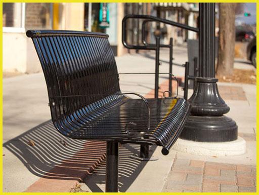 صندلی فلزی پارکی